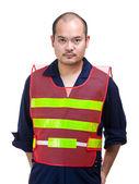 Trabalhador da construção civil séria — Fotografia Stock