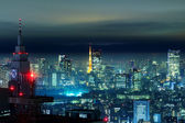 Tokyo city in the night — Stock fotografie