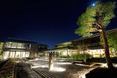 Japonská kamenná zahrada v noci — Stock fotografie