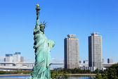 Statue of liberty in Odaiba at Japan — Stock Photo