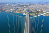 Akashi Kaikyo bridge view about Kobe from top — Stock Photo