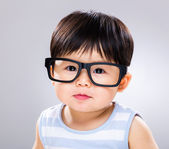 Baby wear glasses — Stock Photo