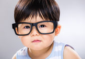 Baby boy wear glasses — Stock Photo