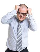 Businessman scratch head — Stock Photo