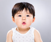Baby boy pout lip — Stock Photo