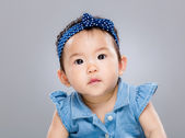 Baby girl confuse — Stock Photo
