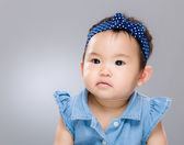Asian baby girl confuse — Stock Photo
