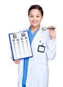 Female optician doctor  — Stock Photo