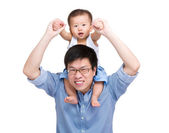 Baby son and father — Stock Photo