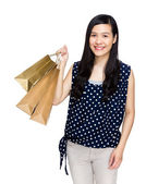 Happy shopping bag — Stock Photo