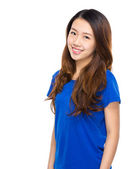 Asian young woman portarit on white background — Stock Photo
