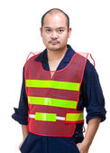 Serious construction worker — Stock Photo