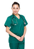 Asian mixed race female doctor — Stockfoto