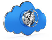 Cloud with closed safe door — Stock Photo