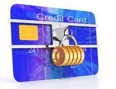 заблокированные кредитная карта — Стоковое фото