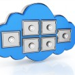 Cloud computing storage - Stock Photo