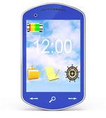 Blue smartphone — Stock Photo