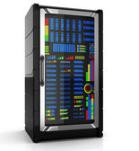 Network server rack — Stock Photo