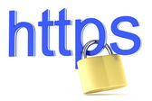 Https icon — Stock Photo