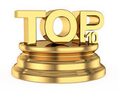 Golden top ten icon — Stock Photo