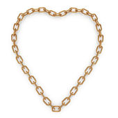 Heartshape chain — Stock Photo