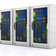 Network servers racks — Stock Photo