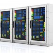 Network servers racks — Stockfoto