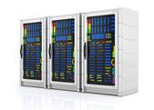 Network servers racks — Stock Photo