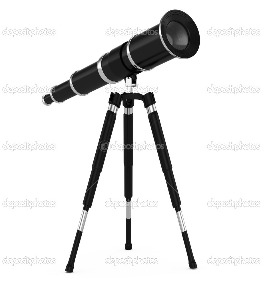 Telescope isolated on white background. 3d rendered image  Stock Photo #18111175