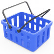 Royalty-Free Stock Photo: Blue shopping basket