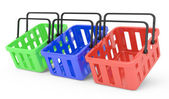Group of shopping baskets — Stock Photo