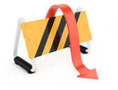 Barrier and arrow — Stock Photo