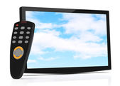 Televisor and remote control — Stock Photo