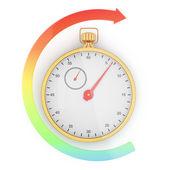 Stopwatch and arrow — Stock Photo