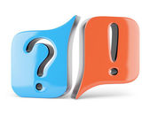 Question and answer signs — Stock Photo
