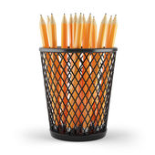 Pencils in holder — 图库照片