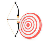 Bow and target — Stock Photo