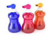 Liquid soap bottles — Stock Photo