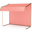 Stock Photo: Striped awning
