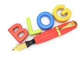 Símbolo de blog — Foto de Stock