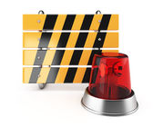 Barrier and alarm lamp — Stock Photo
