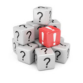 Questions and answer cubes — Stockfoto
