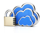 Cloud computing protection — Stock Photo