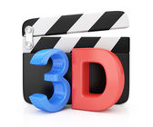 3D movie symbol — Stock Photo