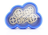 Cloud with cogwheels — Stockfoto