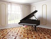Piano in classic style room  — Stockfoto