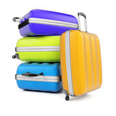 Stack of suitcases — Stock Photo