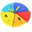 Pie chart with clock handles — Stock Photo #51590599