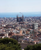 Barcelona, view from the mountain — Stock Photo