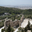 Odeum theater in Athens and city — 图库照片 #13634105